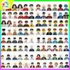 NEW Kids Toys popit Figures Building Blocks Anime Characters Family Portrait City Series Bricks Children Birthday Toy Wholesale