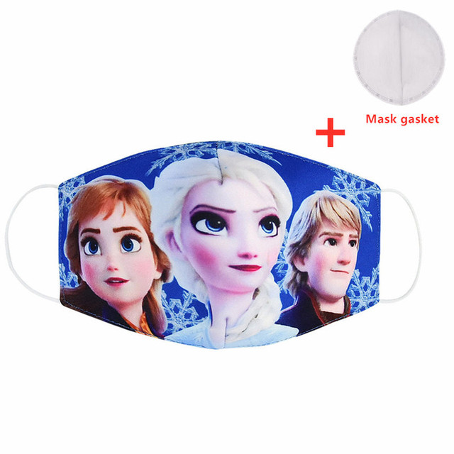 Cute Mask Print Pink Cartoon Unicorn Face Masks Adult Protective Reusable Fabric Mask Cute Mouth Cover Washable