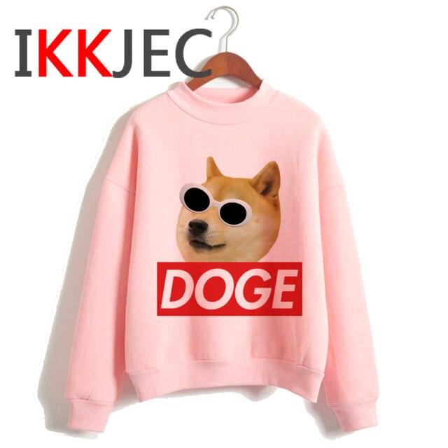 Shiba Inu Kawaii Dogs Funny Cartoon Grunge Aesthetic Hoodies Women Ladies Harajuku Cute Anime Sweatshirt Streetwear Hodoy Female 4