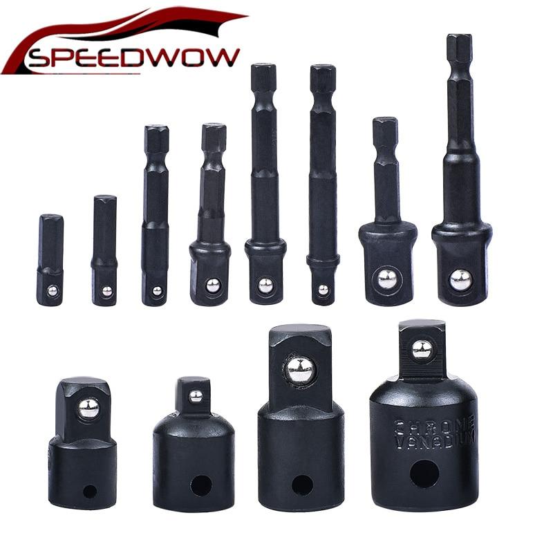 SPEEDWOW 4/8 Pcs Socket Adapte Bits Set Socket Adapter Ratchet Wrench Sockets Power Drill Adapter Set Extension Drill Bits