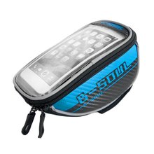 цена на B-SOUL Bicycle Front Top Tube Bag Bike Saddle Bag for 4.8 Inch/5.5 Inch Mobile Phone Screen Touch Holder for Outdoor Riding