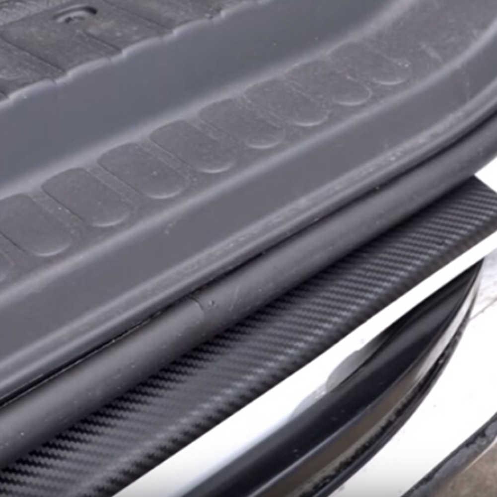 ナノカーボン繊維車のステッカーdiyのドア敷居アンチスクラッチプロテクターテープ防水diyのペースト保護フィルム