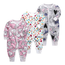 Newborn Babies Sleepwear Baby Boys Girls Blanket Sleepers Infant Long Sleeve 3 6 9 12 18 24 Months baby Pajamas clothes(China)