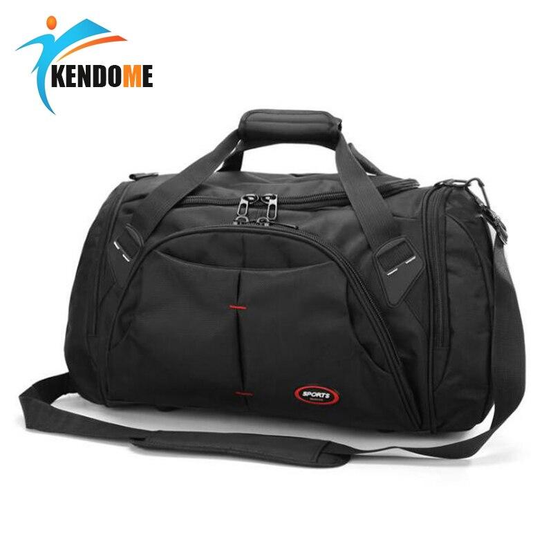 Top Quality Large Size Waterproof Outdoor Sports Training Handbag Gym Bag Men Women Independent Shoes Storage Shoulder Bag