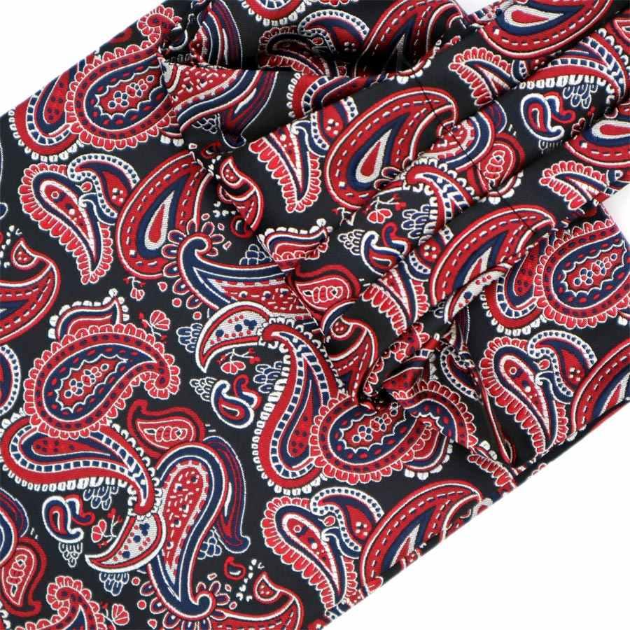 Lüks erkek Ascot Bağları Vintage Paisley Cravat Kendinden Bağlı İngiliz tarzı Beyefendi Polyester Ipek Boyun Kravat Düğün FormaParty