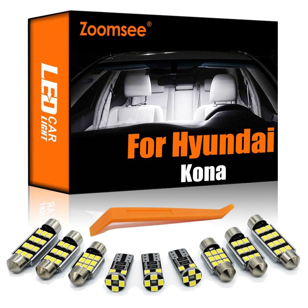 Zoomsee 12 шт. внутренсветодиодный для Hyundai Kona 2017 2018 2019 2020 + Canbus автомобильная лампа Внутренняя купольная карта ламсветильник для чтения в багажнике Сигнальная лампа      АлиЭкспресс