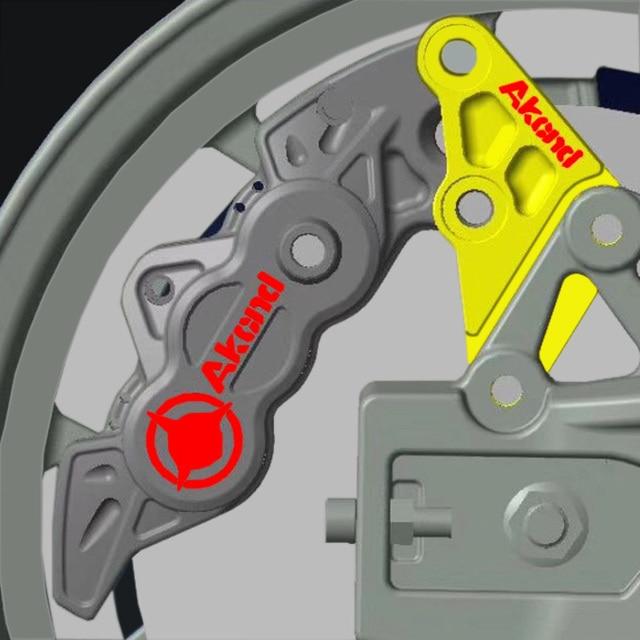 Adaptador de soporte de calibre de freno Akcnd compatible con el Motor central Qs de Monkey Bike Style (para montura de disco de freno de 220mm 40mm)