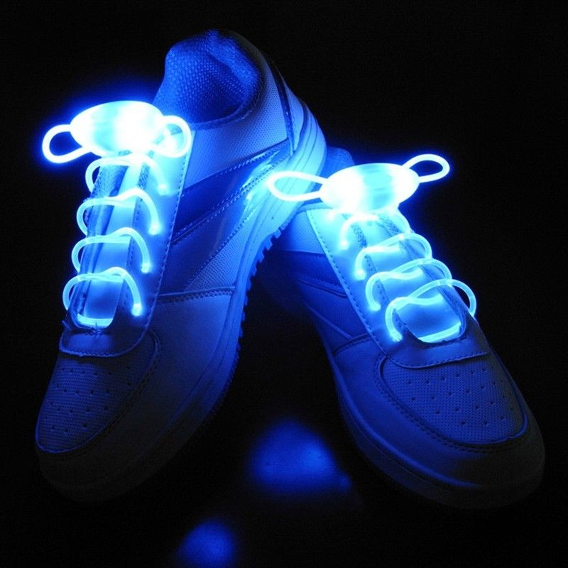 ICOCO 1 Pair 80CM Multi-Color Neon LED Light Glowing Shoe Laces Beautiful High Visibility Neon Lights For