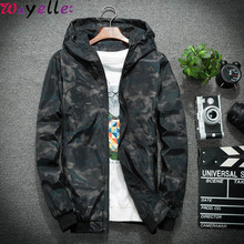 Mens Jackets and Coats New Spring Autumn Men Casual Winbreaker Camouflage Hooded Korean Style Youth Jacket