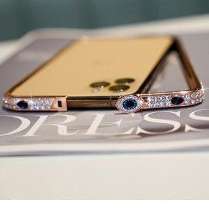 Image 4 - Shining Diamond GlitterสำหรับiPhone 11 PRO MAX X XS XR 6 7 8 Plusเครื่องประดับโลหะกันชนblingสำหรับIphone Capas