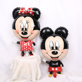 1pc Giant Mickey Minnie Mouse foil Balloons Cartoon Birthday Party decorations Kids Baby shower Party baloon air inflatable Toys