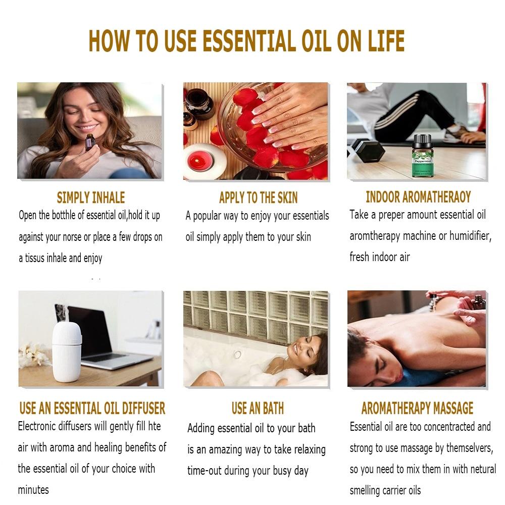 10ml Lavender Eucalyptus Essential Oil Diffuser Pure Natural Essential Oils Rose Jasmine Vanilla Mint Tea Tree Oil Shea Butter-5
