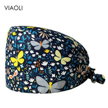 Women's Scrubs Hats Pet-Grooming Beautician-Accessories Lab Wholesale Unisex Elastic-Section
