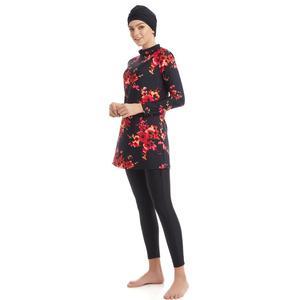Image 2 - YONGSEN Plus Kích Thước Hồi Giáo Đồ Bơi Burkinis Nữ Bộ Đồ Bơi Dài Tay Hijab Khiêm Tốn Phong Cách Muslimah Quần Áo Hồi Giáo Bơi Mặc