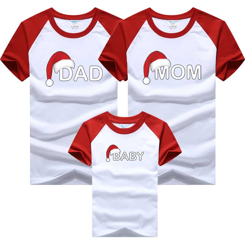 Family Look T-shirt Christmas Deer Family Matching Clothing Mother Daughter Clothes Mother Son Outfits Cotton Dad Son Clothes
