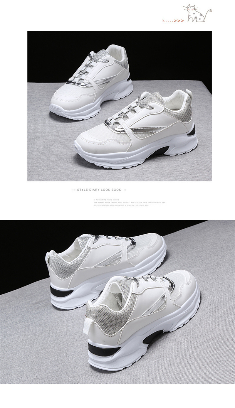 Spring Summer New Fashion Women's Vulcanize Shoes Casual Platform Increased Women Shoes Sneakers Casual Shoes Women VT611 (11)