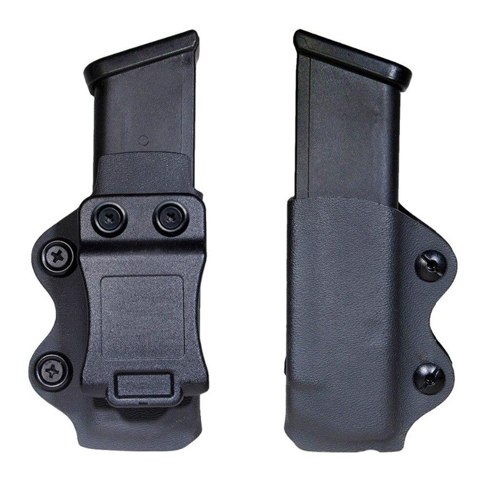 Funda de pistola IWB/OWB, funda de revista individual, funda Mag compatible con Glock 17 19 26/23/27/31/32/33, bolsa de revista IWB individual