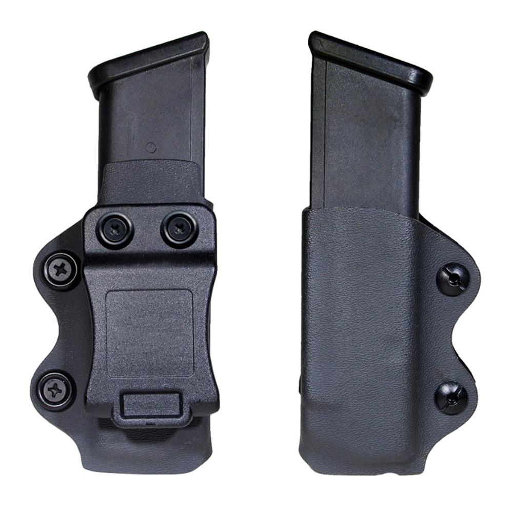 Funda para arma IWB/OWB, funda para revistas individual Mag, compatible con Glock 17 19 26/23/27/31/32/33 M9 G2C P226 USP, bolsa para revistas individual IWB