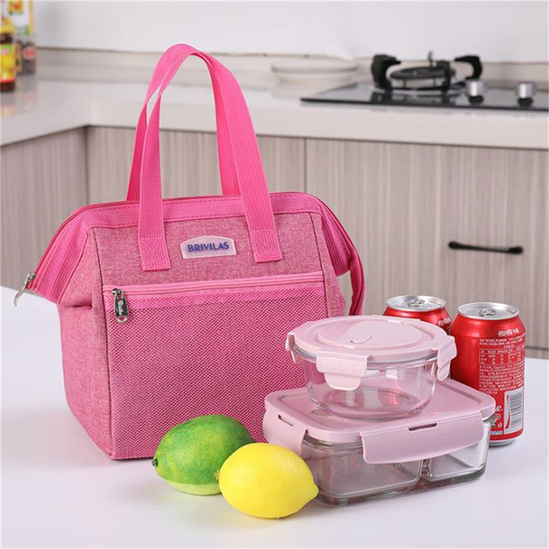 Large Lunch Bags Insulated Lunch Bag Reusable Cooler Tote Lunch Bag Cation + Aluminum Film Box For Men Women Meal Office School image