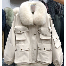 Jackets Overcoats Clothing Parka Short Fox-Fur-Collar Rex-Rabbit-Parkas Winter Women
