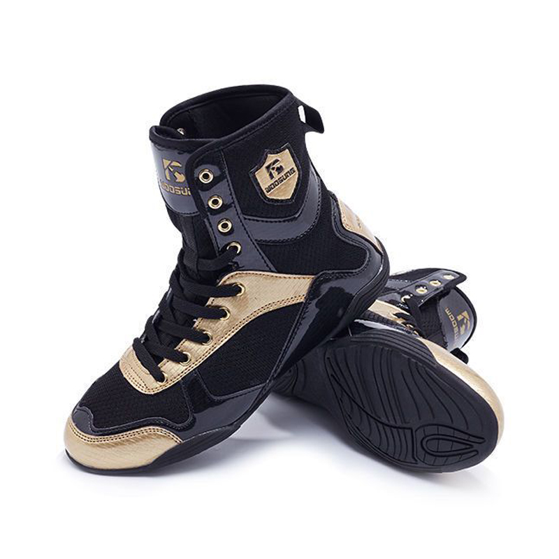 Professional Boxing Wrestling Shoes Rubber Outsole Breathable Combat Sneakers High Top Training Fighting Boots Plus Size 34-47
