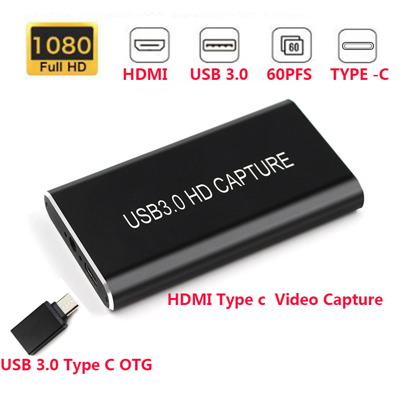 USB 3.0 TypeC Video Capture Card Device HD 1080P 60Hz Live Stream Game Capture for Win8 Windows 10 MAC Linux For phone image
