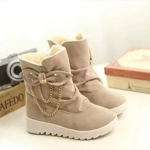 Image 5 - 2020 Winter New Snow Boots Womens Boots  Womens Tube Casual Bow Snow Boots Warm Cold Burning Feet Womens Boots Cotton Shoes