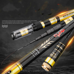 5.5m 13m Taiwn Fishing Pole Short Sections Carbon Position Hand Pesca Ultra light and Ultra hard telescopic Canne Fishing Tackle|Wędki|Sport i rozrywka -