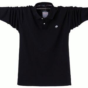 Image 2 - 겨울 가을 새로운 남성 폴로 셔츠 캐주얼 열 양털 남성 폴로 셔츠 두꺼운 따뜻한 5XL 긴 소매 폴로 셔츠 남성 의류 2020