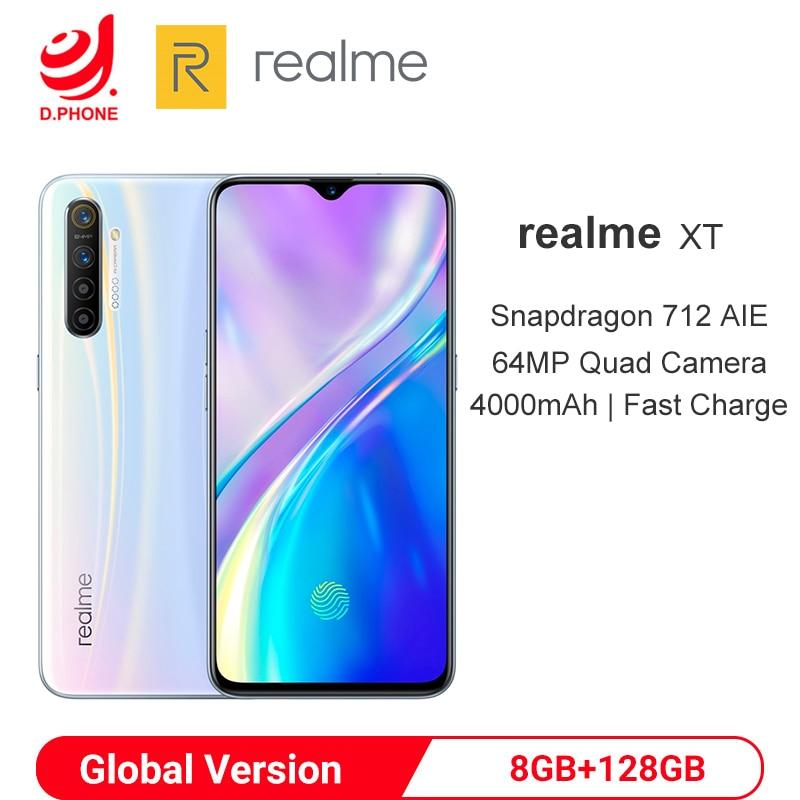 "EU Version realme XT 8GB 128GB 6.4"" Mobile Phone Snapdragon 712 64MP Quad Camera Cellphone 4000mAh Fast Charge Smartphone OPPO"