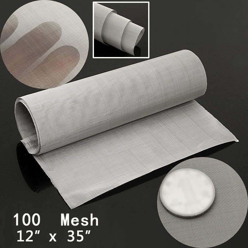 100 Mesh Woven Wire Cloth Screen Filter Sheet Stainless Steel Odorless Harmless
