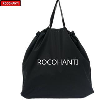 100X Customized Logo Printing Eva Personalized Tote Shopping Bag Recyclable Plastic EVA T-shirt Bag Black Color