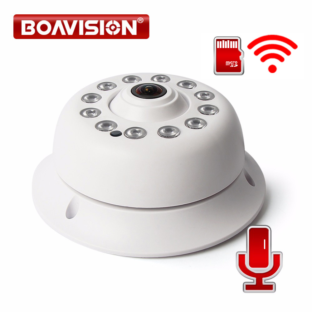 HD 1080P WIFI IP Camera Wireless 180 Degrees Fisheye Lens Audio Home Security CCTV Wi-Fi Camera ONVIF TF Card Slot APP CamHi