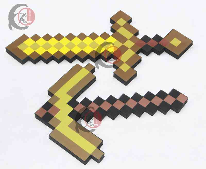Big Size Minecrafted Toys Minecrafted Foam Diamond Sword Pickaxe EVA Model Toys Gift Toys For Kids Birthday Christmas Gifts 1