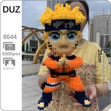 5300pcs DIY Anime Naruto Hokage Uzumaki Ninja 3D Model Micro Mini Building
