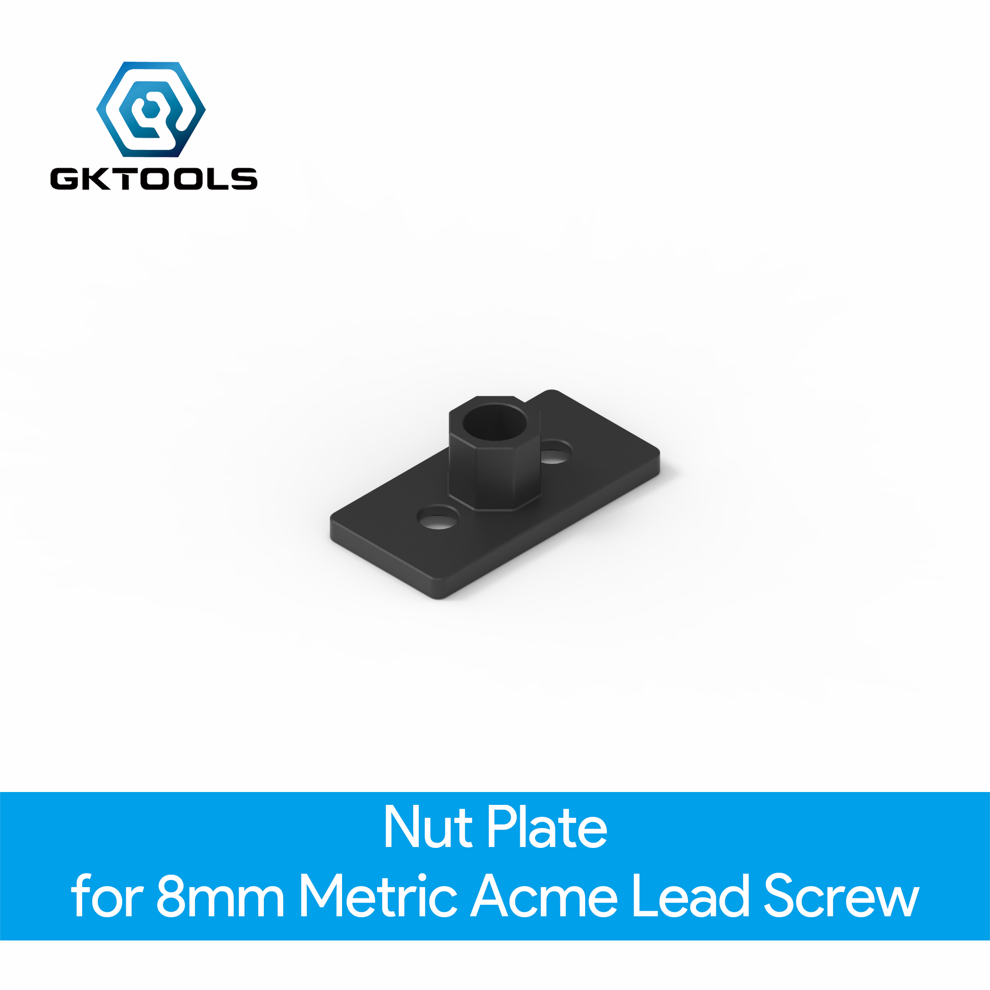 OpenBuilds Nut Plate For 8mm Metric Acme Lead Screw
