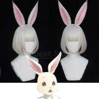 Beastar-Peluca de Anime Haru con orejas de conejo, Cosplay de animales personalizados, pelo BOBO corto largo, conejo de Halloween, 2019