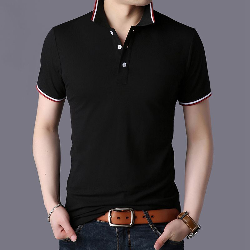 2019 Zomer Mannen   Polo   Shirt Mannen Business Casual 95% Katoen Brand New Man Korte Mouw   Polo   Shirts Plus Size 3XL