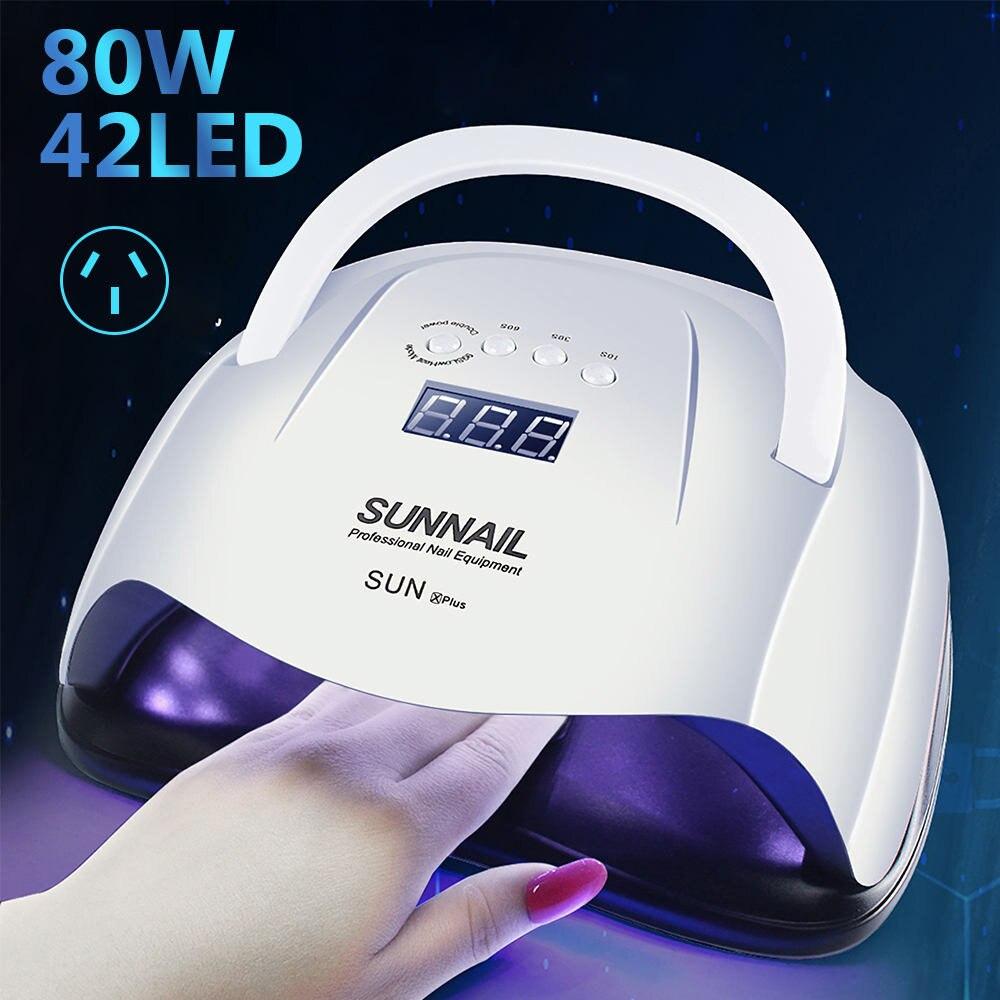 General Goods American, British, European And Australian Regulations 80W Nail Lamp Nail Dryer UV Phototherapy Machine Automatic