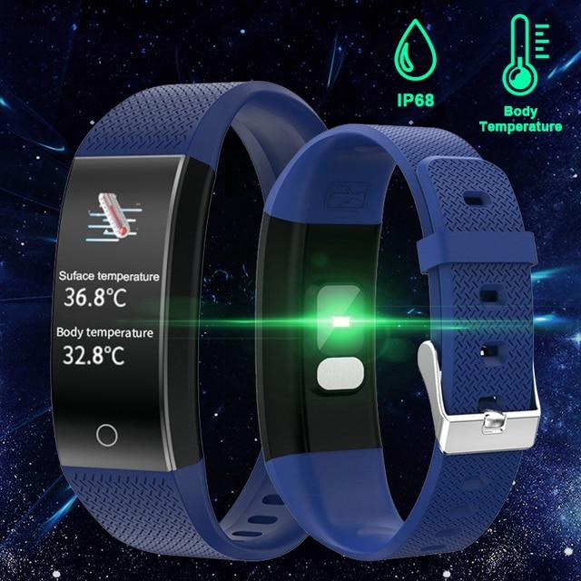 Body Temperature Detection Smart Bracelet Immunity Measure Blood Pressure Heart Rate Fitness Bracelet IP68 Waterproof Russian 1