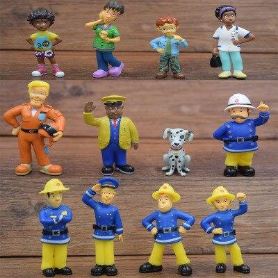 12 piezas Conjunto de Fireman Sam Cake Toppers de PVC Figuras De Acción Niños Niña Juguete Nuevo