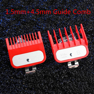 Image 2 - 2Ppcs(1.5mm+4.5mm) Guide Comb Sets 1.5 And 4.5 Mm Size Red Color Attachment Comb Set For Professional Clipper random