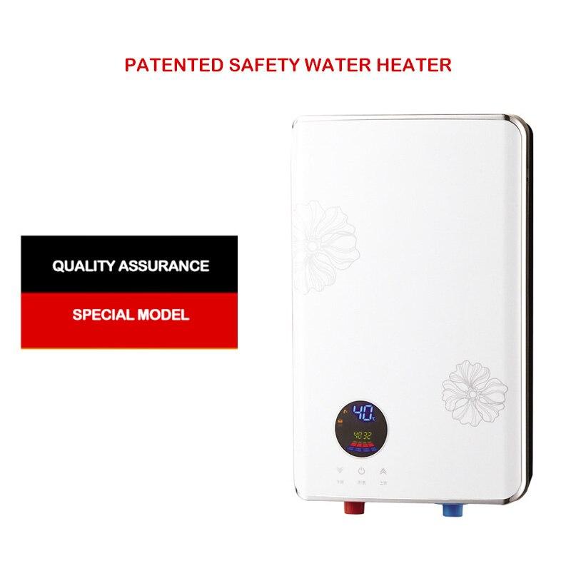 Microordenador DE SEGURIDAD instantáneo calentador de agua eléctrico integrado inversor térmico instantáneo termostato ducha inteligente hogar