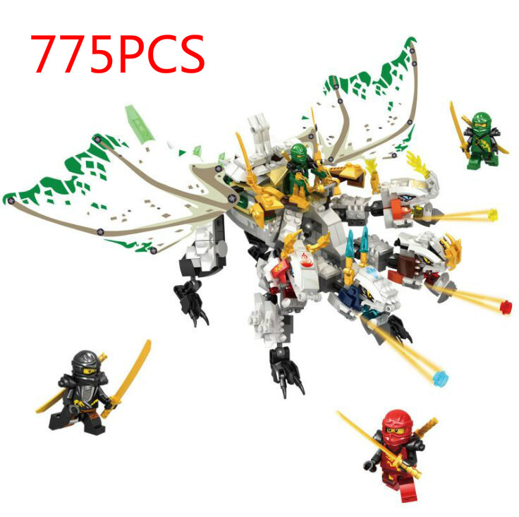 Ninja The Ultra Dragon Movie Flying mecha dragon Transformation DIY Building Block Sets Compatible Lepinblock Ninjagoes 70679 image