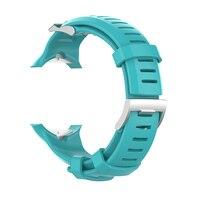 Fácil instalar substituição faixa ajustável casual sweatproof resistente ao desgaste pulseira de relógio de silicone com ferramenta para suunto d6 mergulho