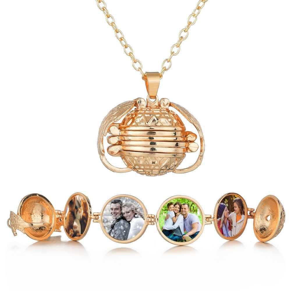 Подарок на день Святого Валентина, многослойная коробка для фотографий, ожерелье с подвеской, подарок на день рождения для подруги, подарок