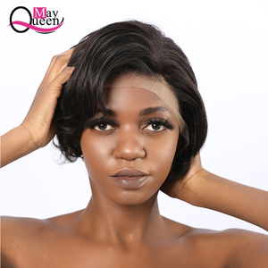 Image 3 - Pixie Cut Wig 13x4 Short Lace Front Human Hair Wigs Pre Plucked With Baby Hair Lace Frontal Wig Brazilian Hair