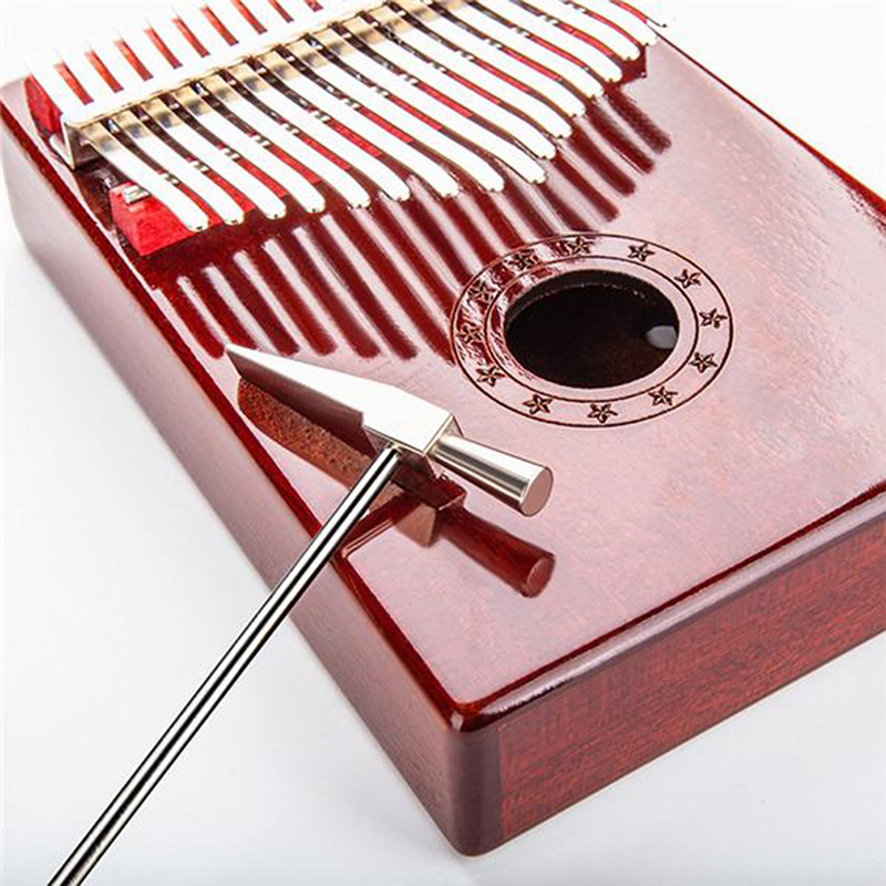 AThumb Piano Kalimba Tone Tuning Hammer Musical Instrument Tool Accessory Silver
