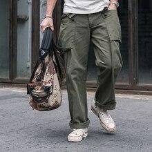 Bronson USMC HBT P-44 Pants WW2 Military Monkey Trousers Fatigue Utility For Men Army Green