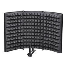 Microphone Isolation Shield, Studio Mic Sound Absorbing Foam Reflector For Any Condenser Microphone Recording Equipment Studio, цены онлайн